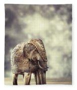 Elephant Figure Fleece Blanket
