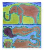 Elephant In The Room Fleece Blanket
