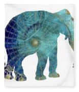 Elephant Maps Fleece Blanket