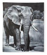 Elephant Night Walker Fleece Blanket