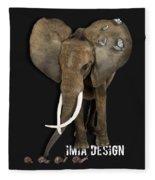 Elephant No 04 Fleece Blanket