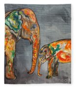 Elephant Play Day Fleece Blanket