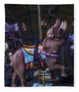 Elephant Ride At The Fair Fleece Blanket