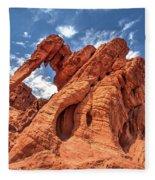 Elephant Rock, Valley Of Fire State Park, Nevada Fleece Blanket