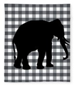 Elephant Silhouette Fleece Blanket