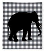 Elephant Silhouette Fleece Blanket