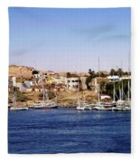 Elephantine Island Aswan Fleece Blanket