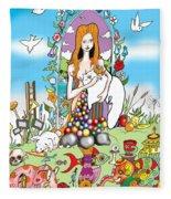 Elephants,cats And Rabbit Dreams Fleece Blanket