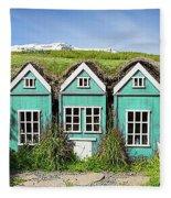 Elf Houses Fleece Blanket