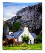 Elgol Cottage, Skye Fleece Blanket