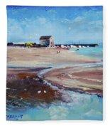 Elie Beach 2018 Oil Fleece Blanket