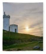 Elie Lighthouse. Late Afternoon. Fleece Blanket