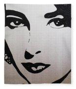Elizabeth Taylor Diams Fleece Blanket