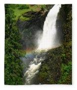 Elk Creek Falls Rainbow Fleece Blanket