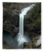 Elk Falls Provincial Park Waterfall Fleece Blanket