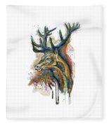 Elk Head Fleece Blanket