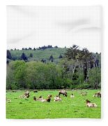 Elk Herd Fleece Blanket