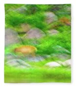Elk In The Rocks Fleece Blanket