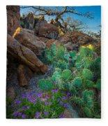 Elk Mountain Flowers Fleece Blanket