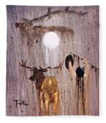 Elk Spirit Fleece Blanket