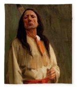 Elkfoot Of The Taos Tribe Fleece Blanket