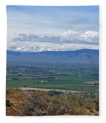 Ellensburg Valley With Sagebrush And Lupine Fleece Blanket