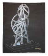 Elliptical Gears Fleece Blanket