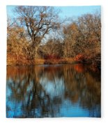 Elm By The Connecticut River In Autumn Fleece Blanket