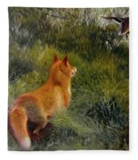 Eluding The Fox Fleece Blanket