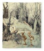 Elves In A Wood Fleece Blanket