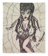 Elvira Mistress Of The Dark Fleece Blanket