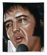 Elvis 24 1975 Fleece Blanket
