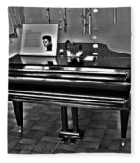 Elvis And The Black Piano ... Fleece Blanket