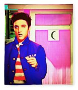 Elvis Has Left The House 20151225 Square Fleece Blanket