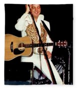 Elvis In Concert Fleece Blanket