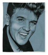 Elvis Is Back Fleece Blanket