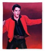 Elvis Presley 4 Painting Fleece Blanket