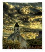 Elvis Presley Memorial Chapel II  Fleece Blanket