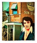 Elvis Presley The King At Sun Studio Memphis Tennessee 20160216 Square Fleece Blanket