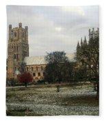 Ely Cambridgeshire, Uk.  Ely Cathedral  Fleece Blanket