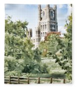 Ely Cathedral Fleece Blanket