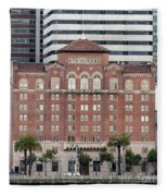 Embarcadero Ymca Building In San Francisco, California Fleece Blanket