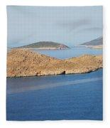 Emborio Harbour On Halki Island Fleece Blanket
