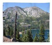 Emerald Bay With Mountain Fleece Blanket