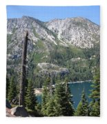 Emerald Bay With Mountain Fleece Blanket