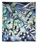 Emerald Chasms Fleece Blanket