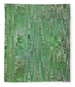 Emerald Green - Abstract Art Fleece Blanket