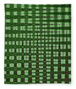 Emerald Green And Oak Stump Abstract Fleece Blanket
