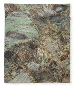 Emerald Green Granite Fleece Blanket