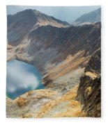 Emerald Lake Surrounded By Tatra Mountains, Poland Fleece Blanket
